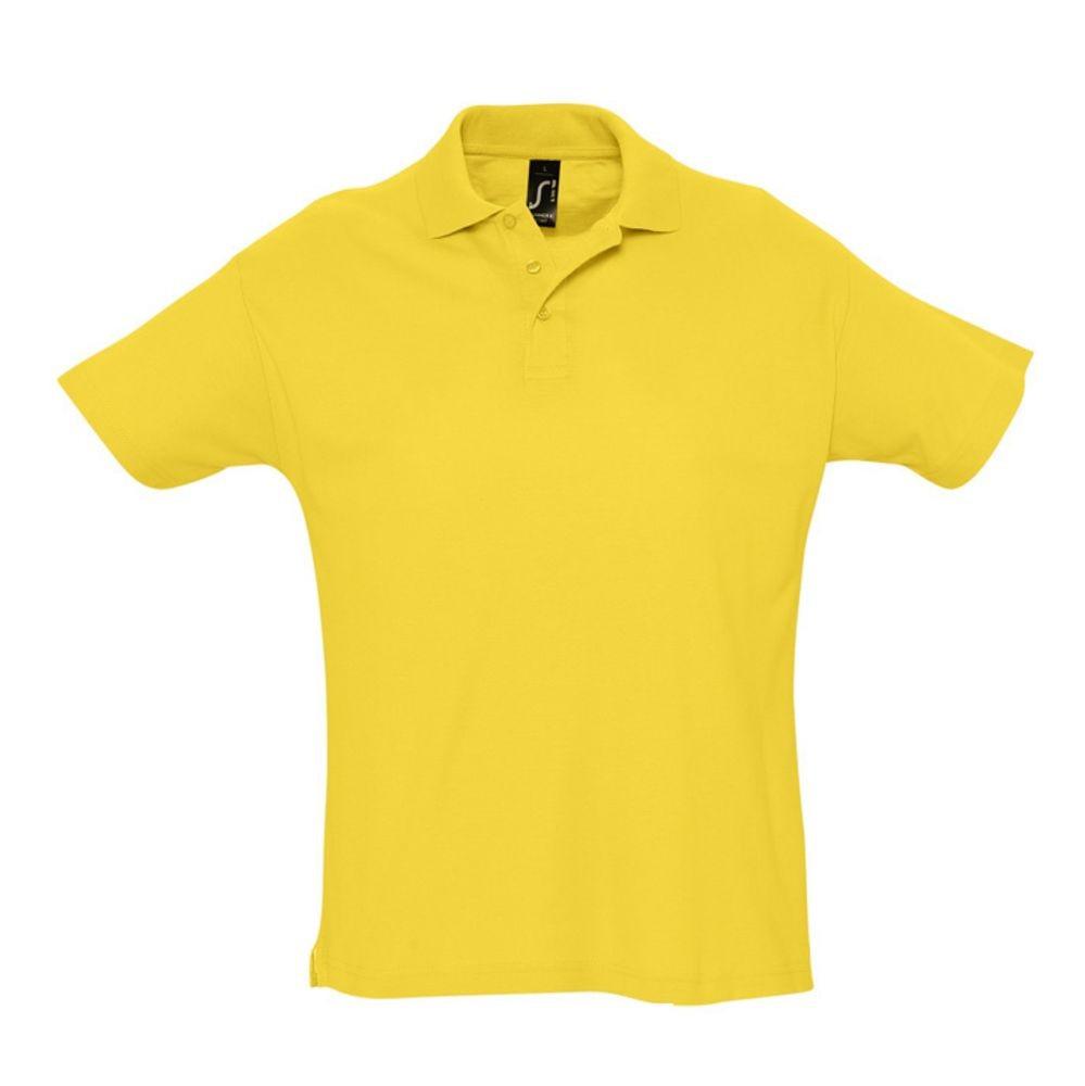 Рубашка поло мужская SUMMER 170, желтая
