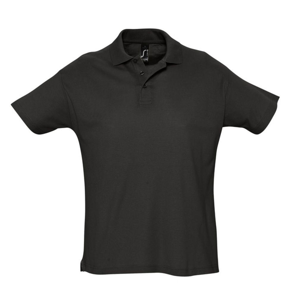 Рубашка поло мужская SUMMER 170, черная