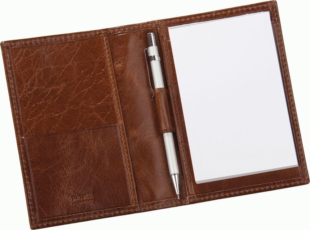 Записная книжка с карандашом, цвет кофейный