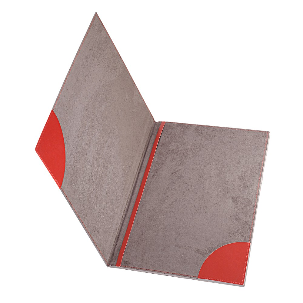 РАСПРОДАЖА Папка на подпись, нат. кожа, Everest, 235 х 320 мм, красный/бежевый, гладкая фактура