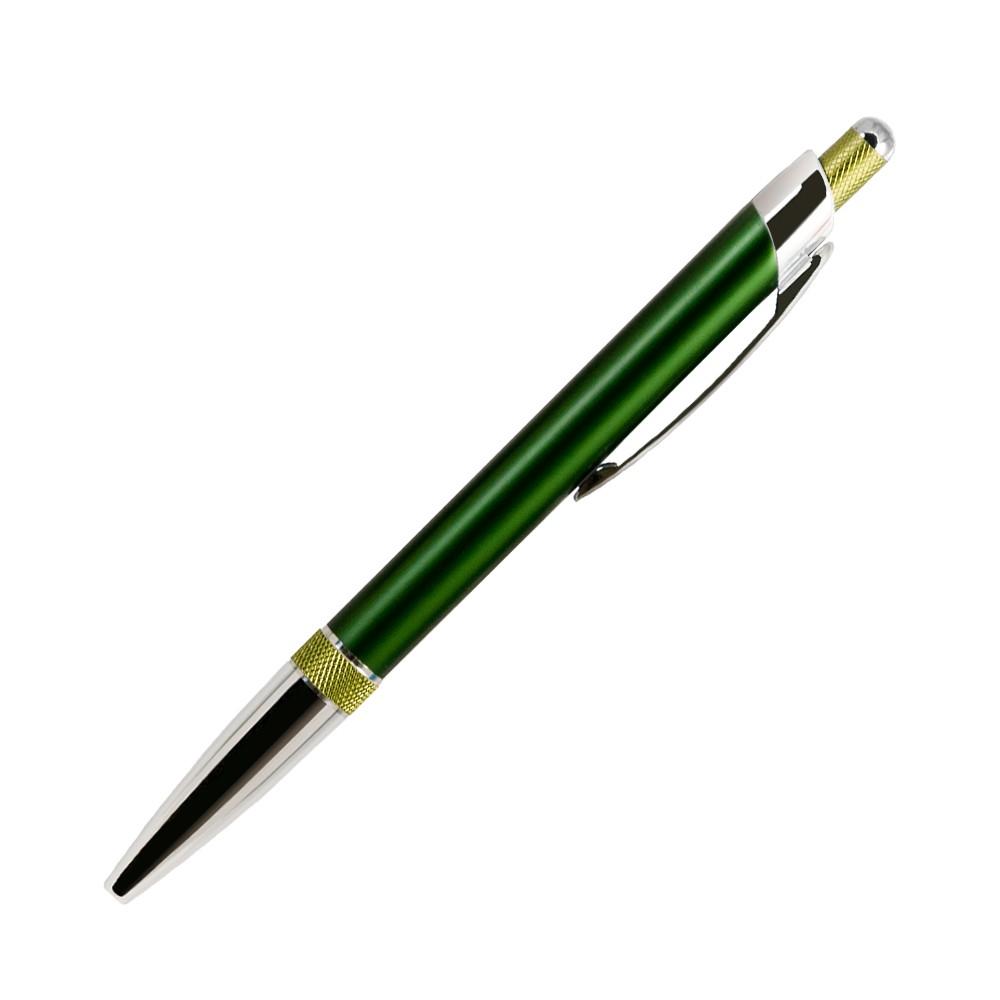Шариковая ручка, Bali, корпус- алюминий, покрытие зелен/салатов, отделка - хром. детали,в упак