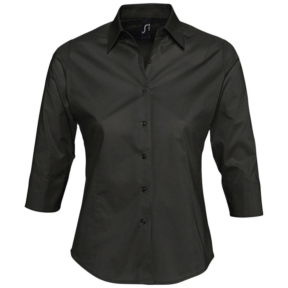 Рубашка женская с рукавом 3/4 EFFECT 140, черная
