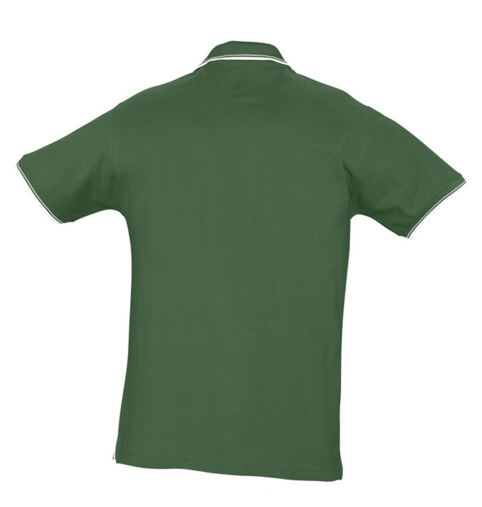 Рубашка поло мужская с контрастной отделкой PRACTICE 270, зеленый/белый