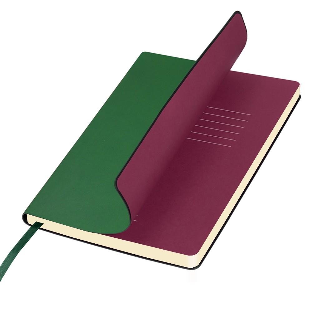Ежедневник недатированный, Portobello Trend, Sky, 145х210, 256стр, зеленый(стикер,б/ленты)