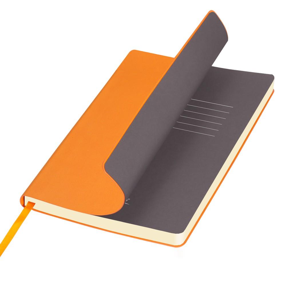 Ежедневник недатированный, Portobello Trend, Sky, 145х210, 256стр, оранжевый (стикер,б/ленты)