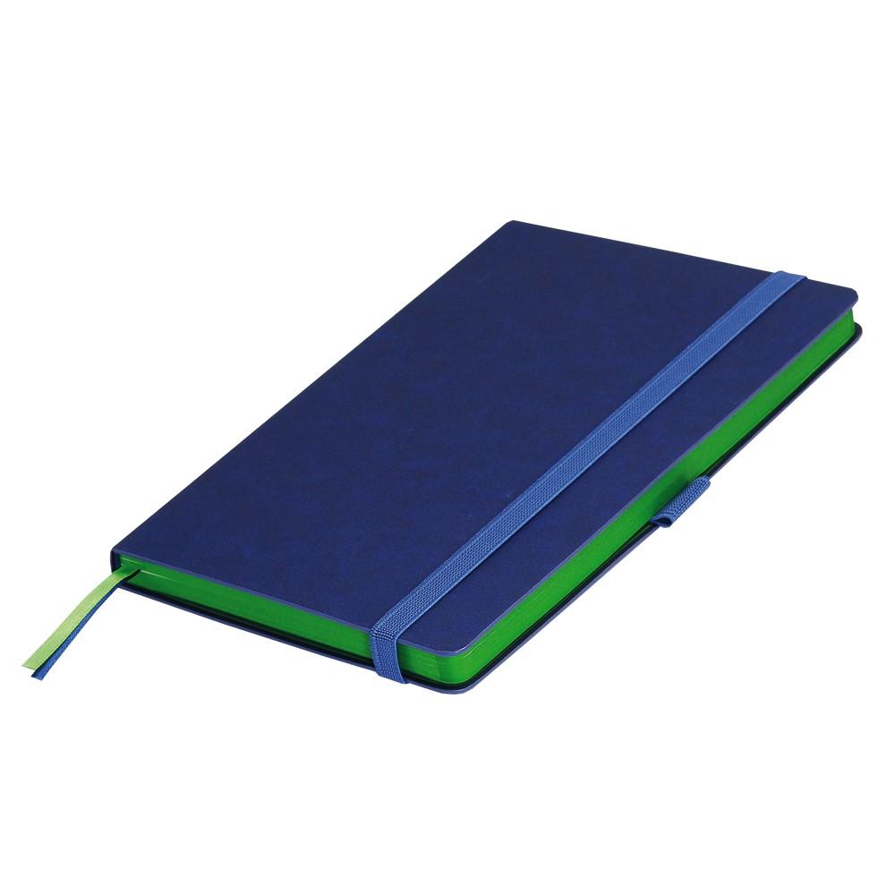 Ежедневник недатированный, Portobello Trend, Blue ocean, 145х210, 256стр,синий/св.зеленый (стикер,б/ленты)