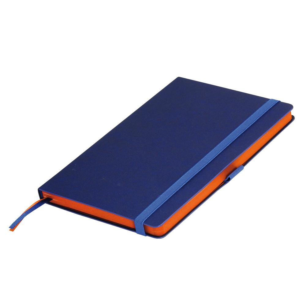 Ежедневник недатированный, Portobello Trend, Blue ocean, 145х210, 256стр,синий/оранжевый (стикер,б/ленты)