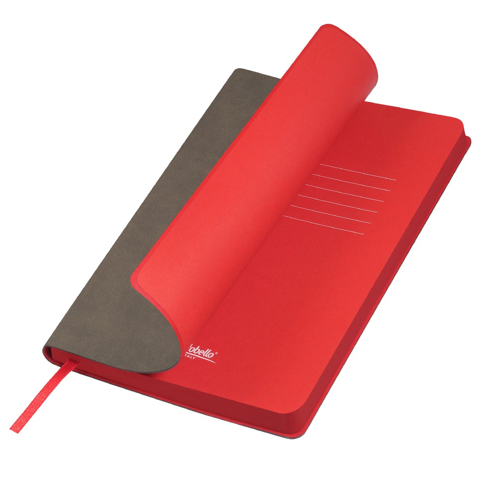 Ежедневник недатированный, Portobello Trend, Latte NEW, 145х210, 256 стр, каппучино/красный