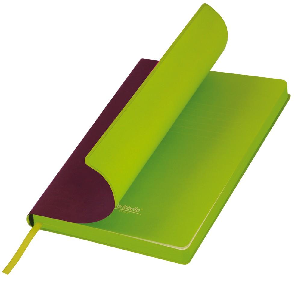 Ежедневник недатированный, Portobello Trend, Latte, 140х210, 256 стр, бордо/лимонный