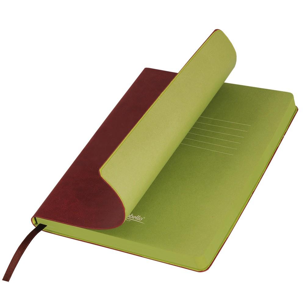 Ежедневник недатированный, Portobello Trend, River side, 145х210, 256 стр, коричневый/салатовый (стикер,б/ленты)