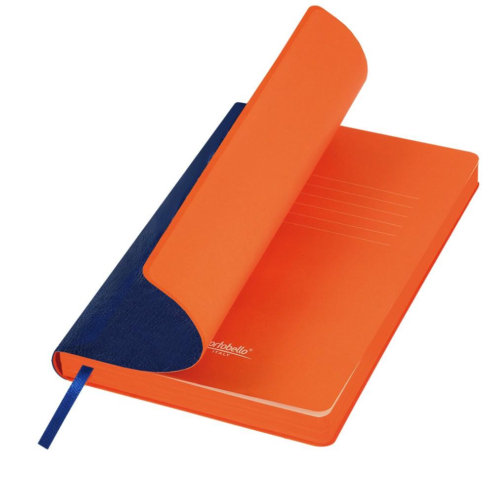 Ежедневник недатированный, Portobello Trend, River side, 145х210, 256 стр, синий/оранжевый(без бум лент, стик)