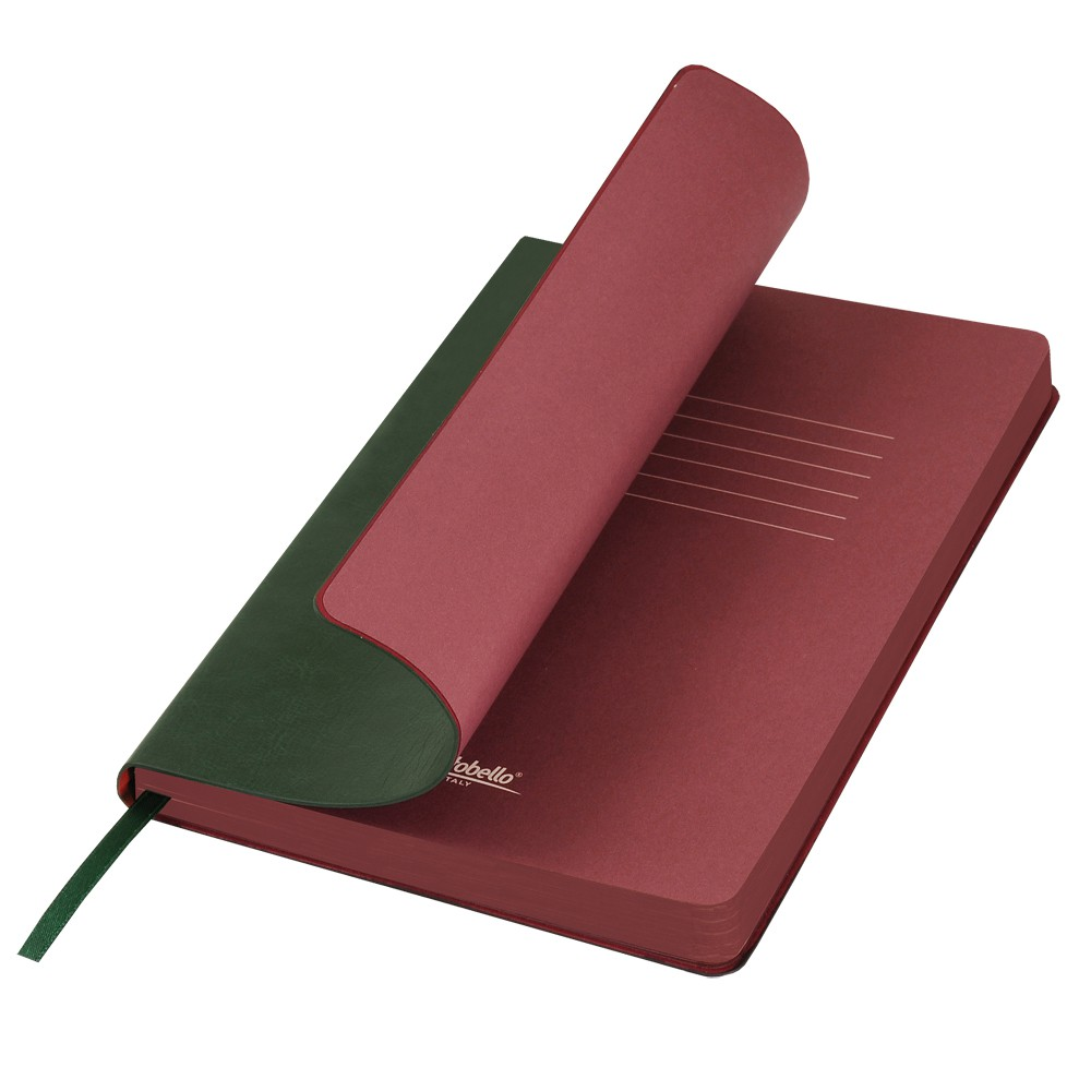 Ежедневник недатированный, Portobello Trend, River side, 145х210, 256 стр, зеленый/бургунди (стикер,б/ленты)