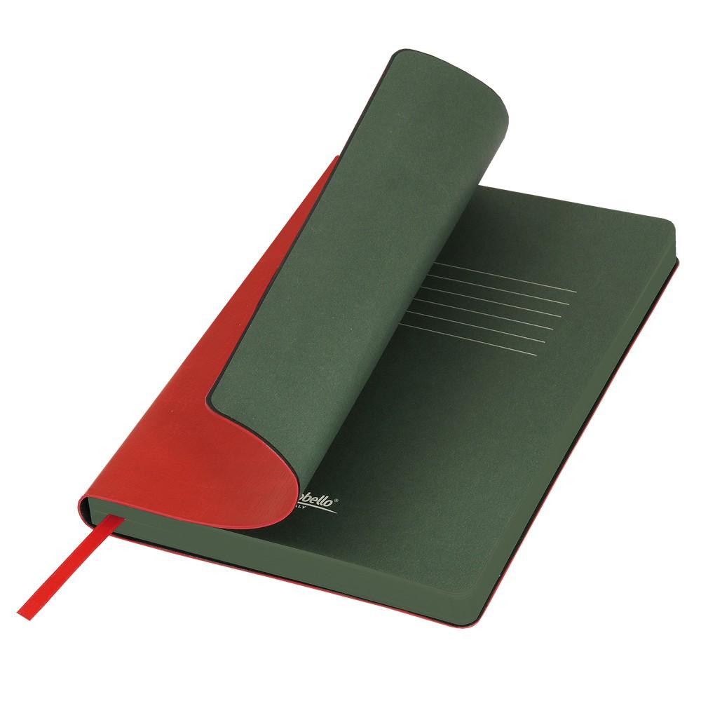 Ежедневник недатированный, Portobello Trend, River side, 145х210, 256 стр, красный/зеленый (стикер, б/ленты)