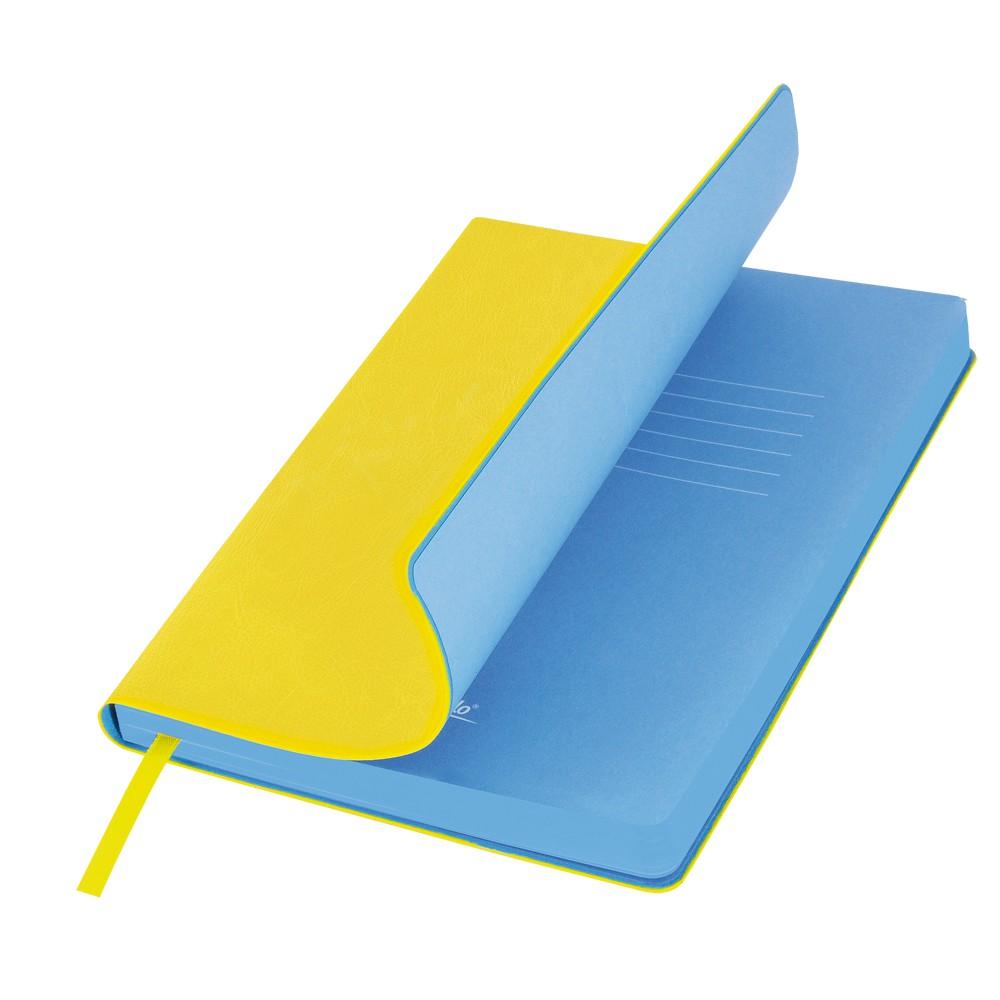 Ежедневник недатированный, Portobello Trend, River side, 145х210, 256 стр, желтый/голубой (стикер,б/ленты)