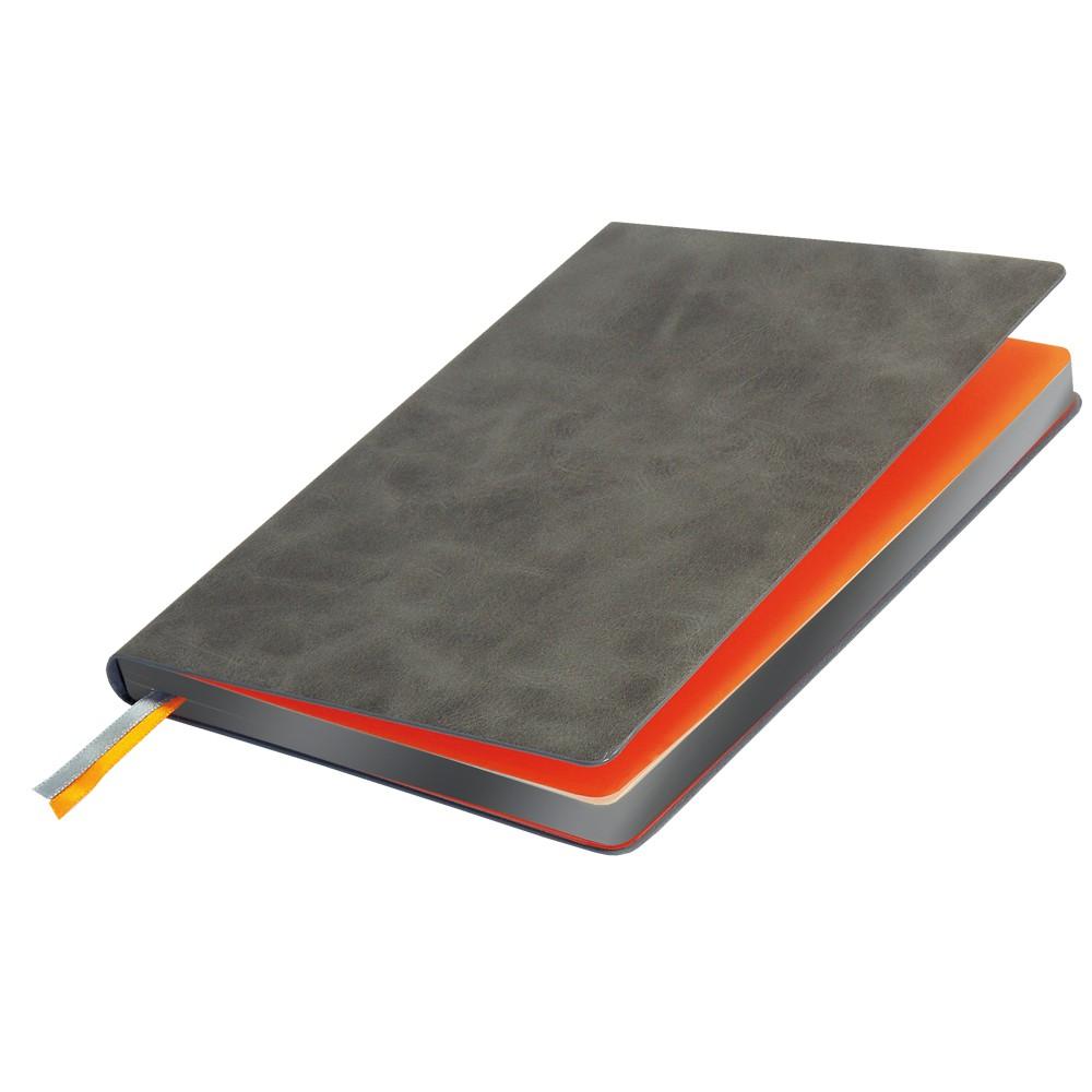 Ежедневник недатированный, Portobello Trend, Atlas, 145х210, 256 стр, серый, срез-фольга/серый