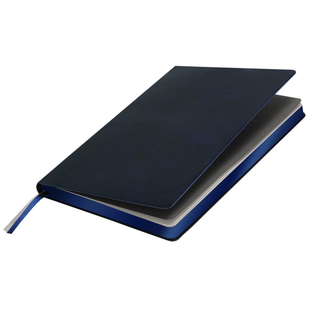 Ежедневник недатированный, Portobello Trend, Atlas, 145х210, 256 стр, т.-синий, срез-фольга/т,-синий