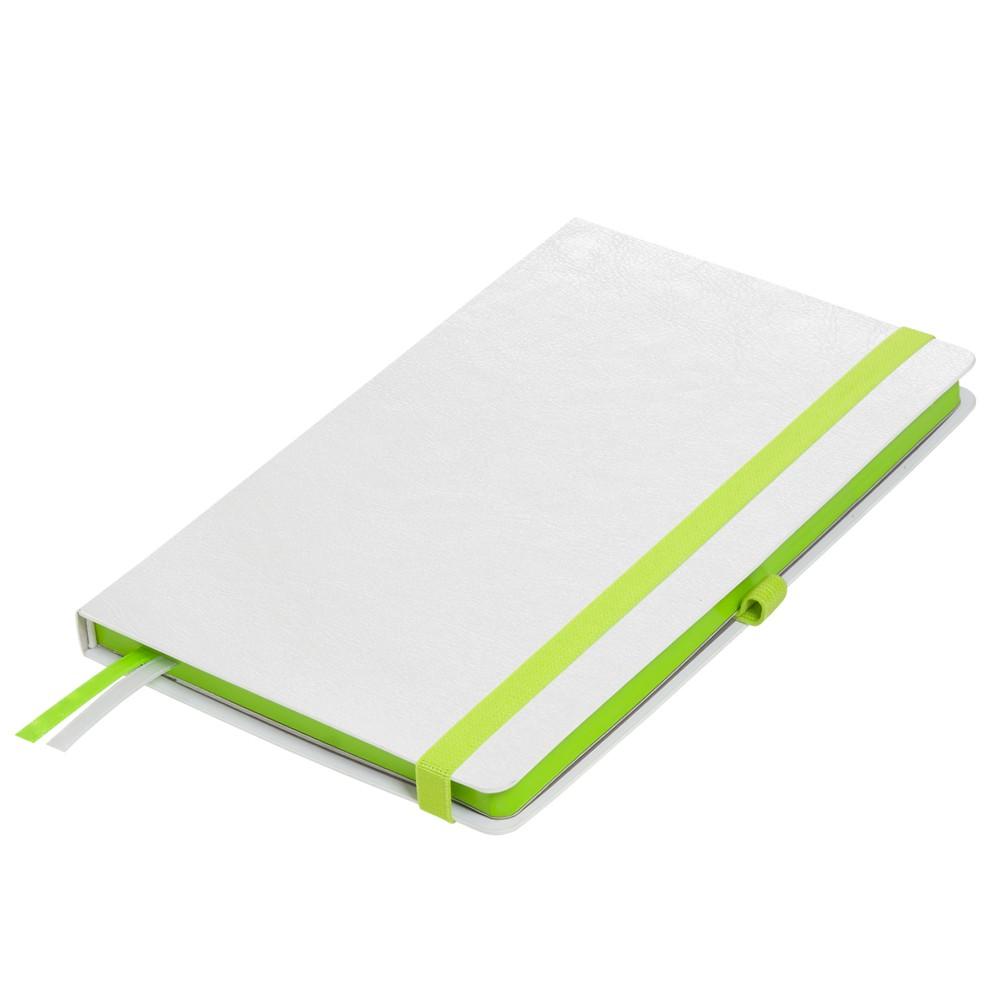 Ежедневник недатированный, Portobello Trend, Arctic NEW, 145х210, 256 стр, белый, срез-фольга/зеленый