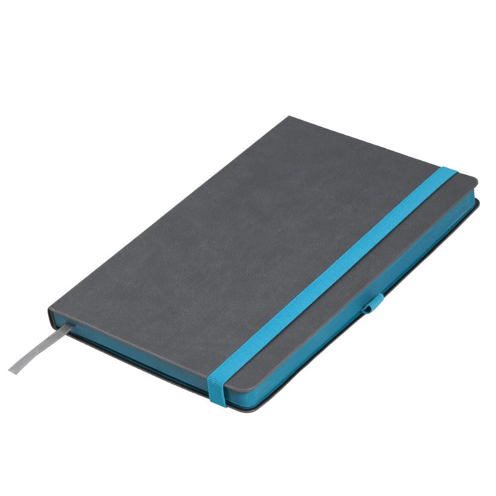 Ежедневник недатированный, Portobello Trend, Aurora, 145х210, 256 стр, серый/аква