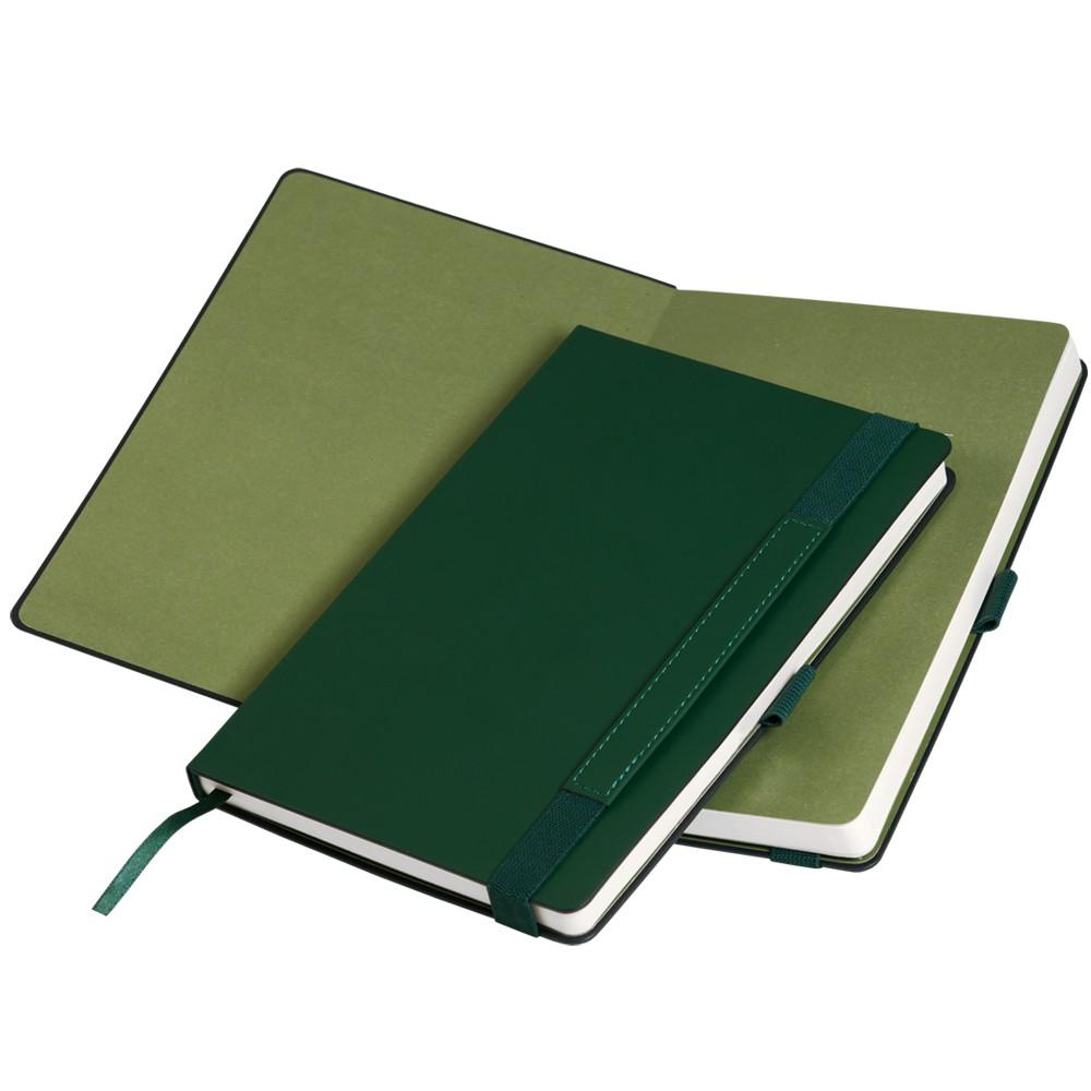Ежедневник недатированный, Portobello Trend, Alpha, 145х210, 256 стр, зеленый/оливковый