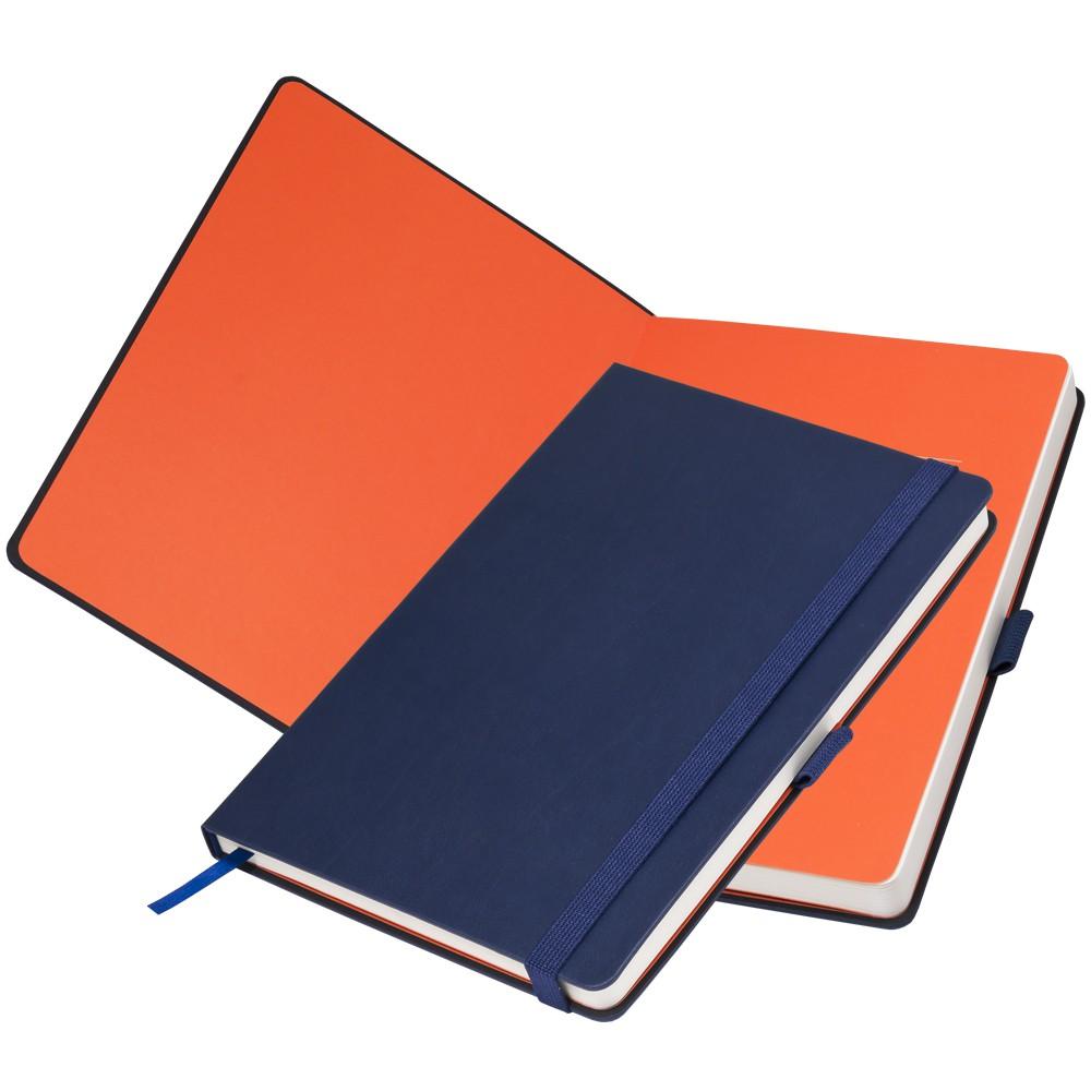 Ежедневник недатированный, Portobello Trend, Monte, 145х210, 256 стр, синий/оранжевый