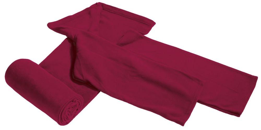 Плед с рукавами, бордовый