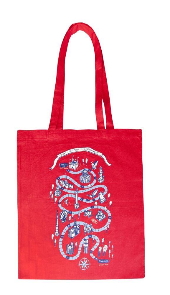 Холщовая сумка Basic 105, красная