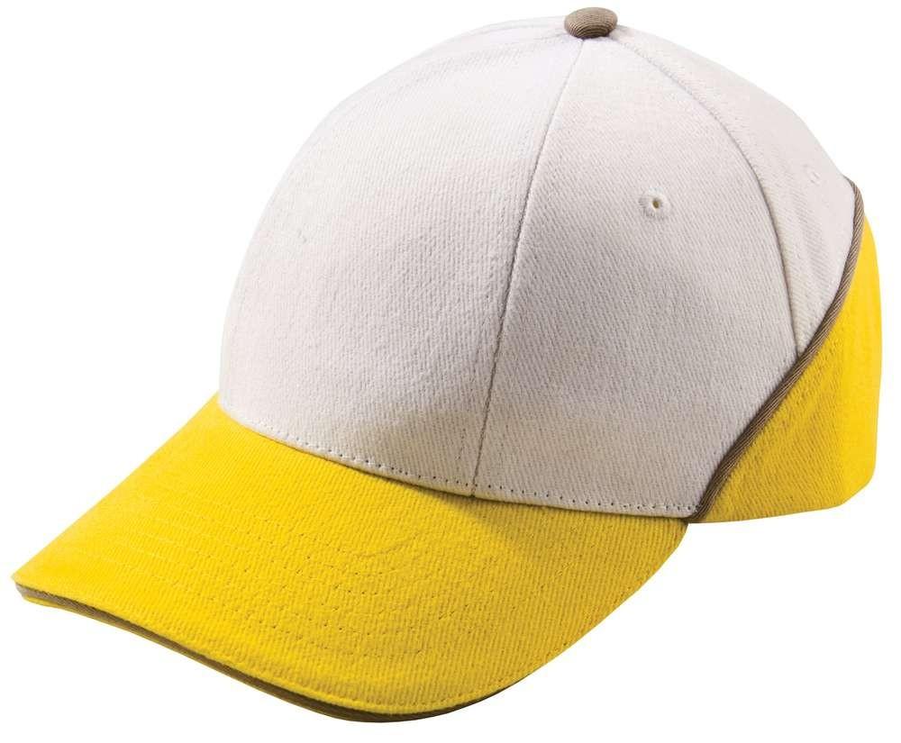 Бейсболка Unit Art, белая с желтым
