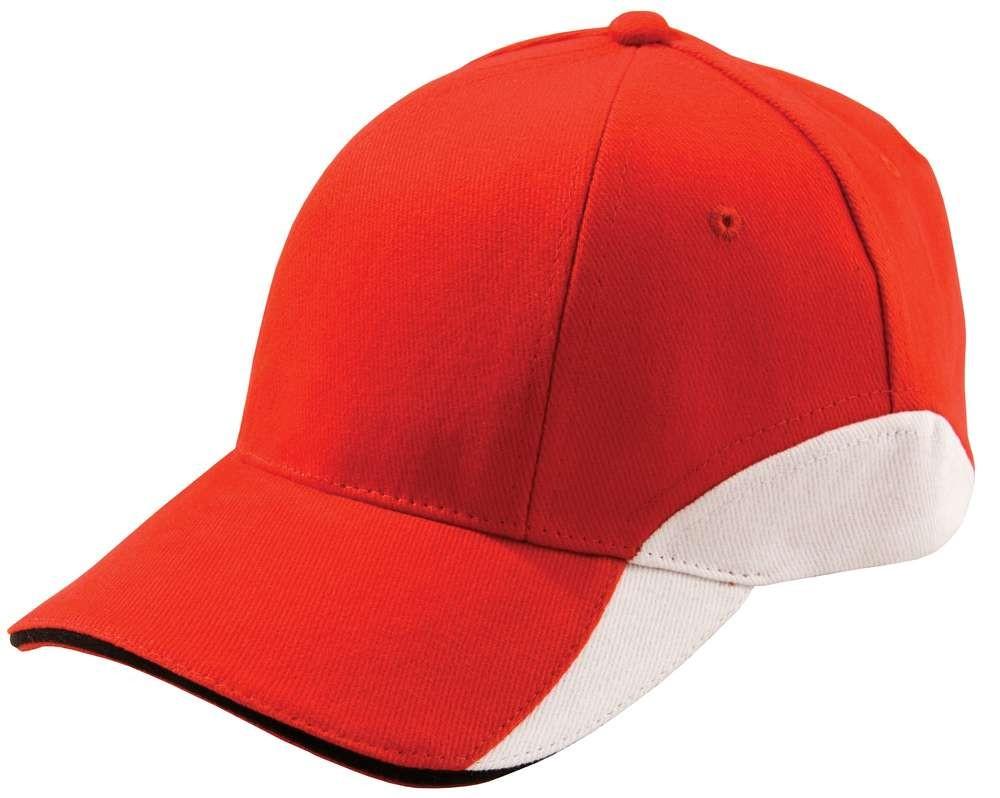 Бейсболка Unit Discovery, красная с белым