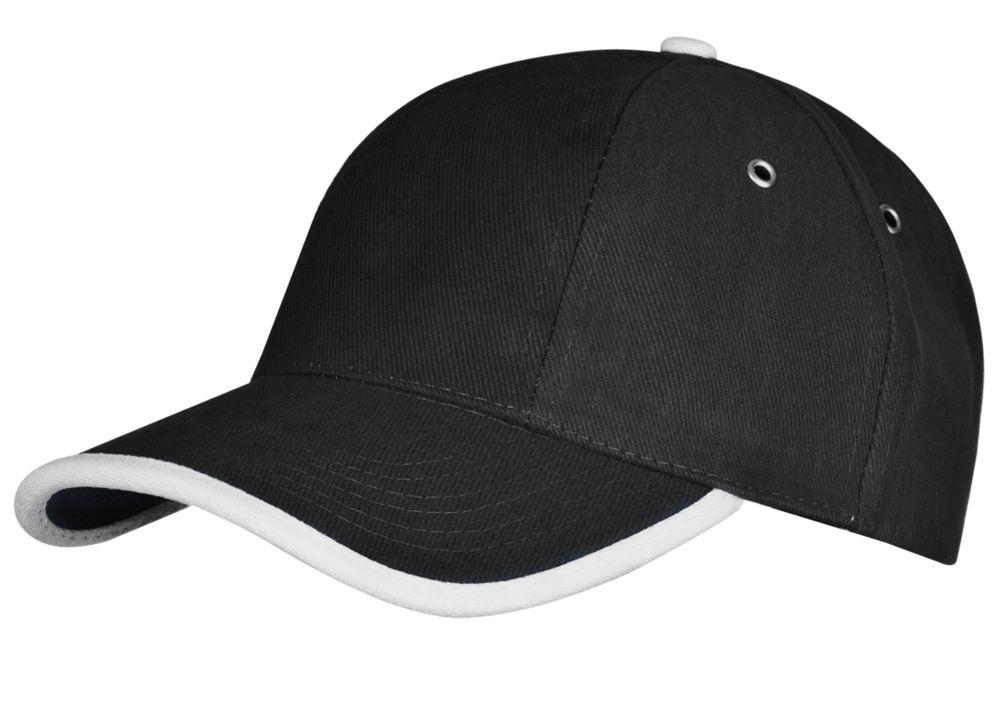 Бейсболка Unit Trendy, черная с белым
