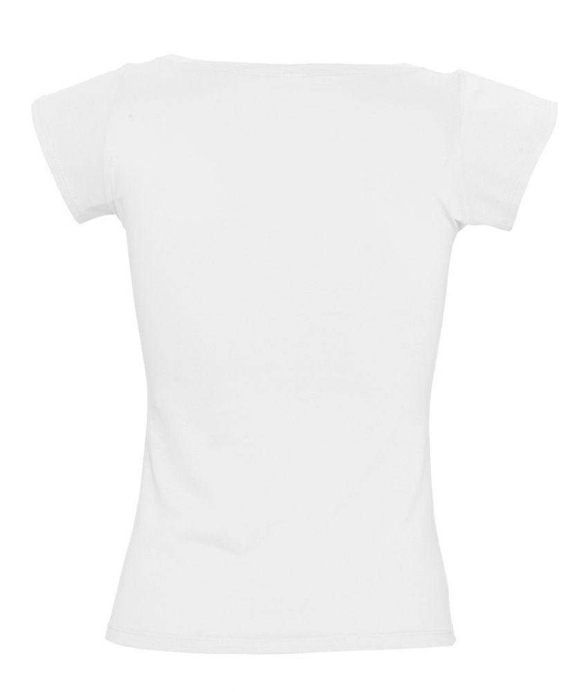 Футболка женская MELROSE 150 с глубоким вырезом, белая