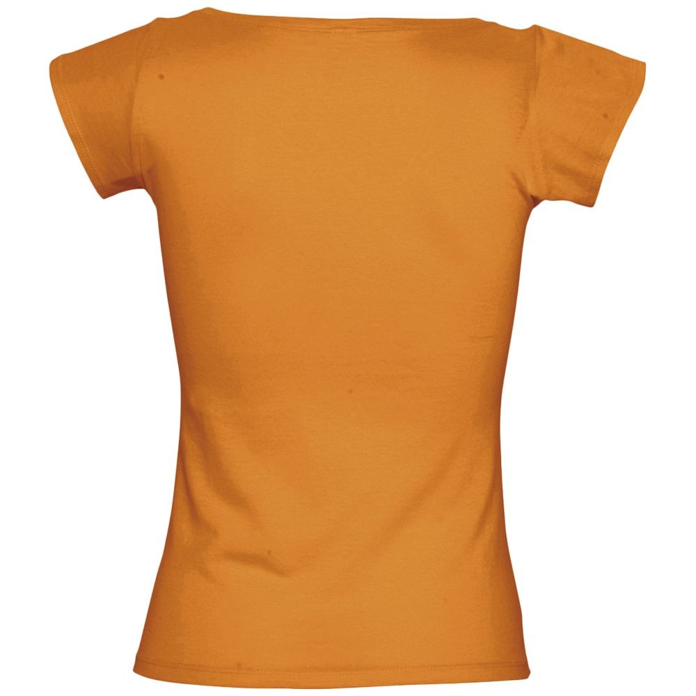 Футболка женская MELROSE 150 с глубоким вырезом, оранжевая
