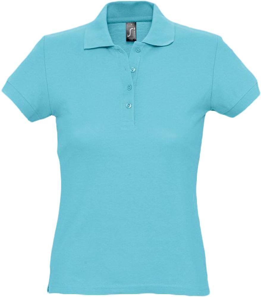 Рубашка поло женская PASSION 170, бирюзовая