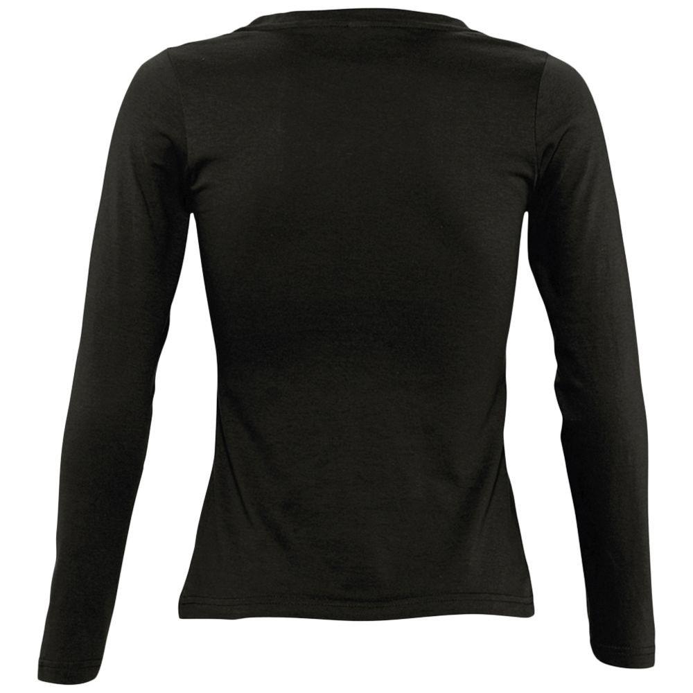 Футболка женская с длинным рукавом MAJESTIC 150, черная