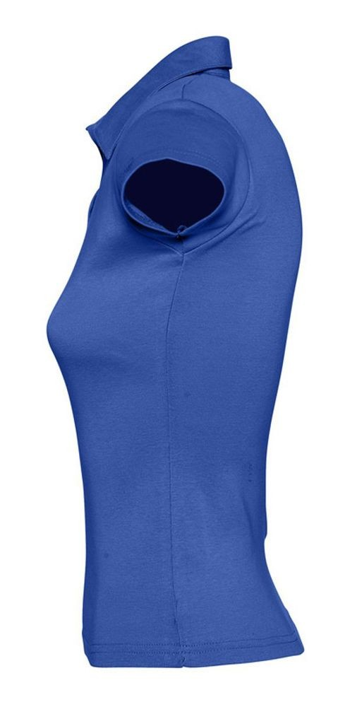Рубашка поло женская без пуговиц PRETTY 220, ярко-синяя (royal)