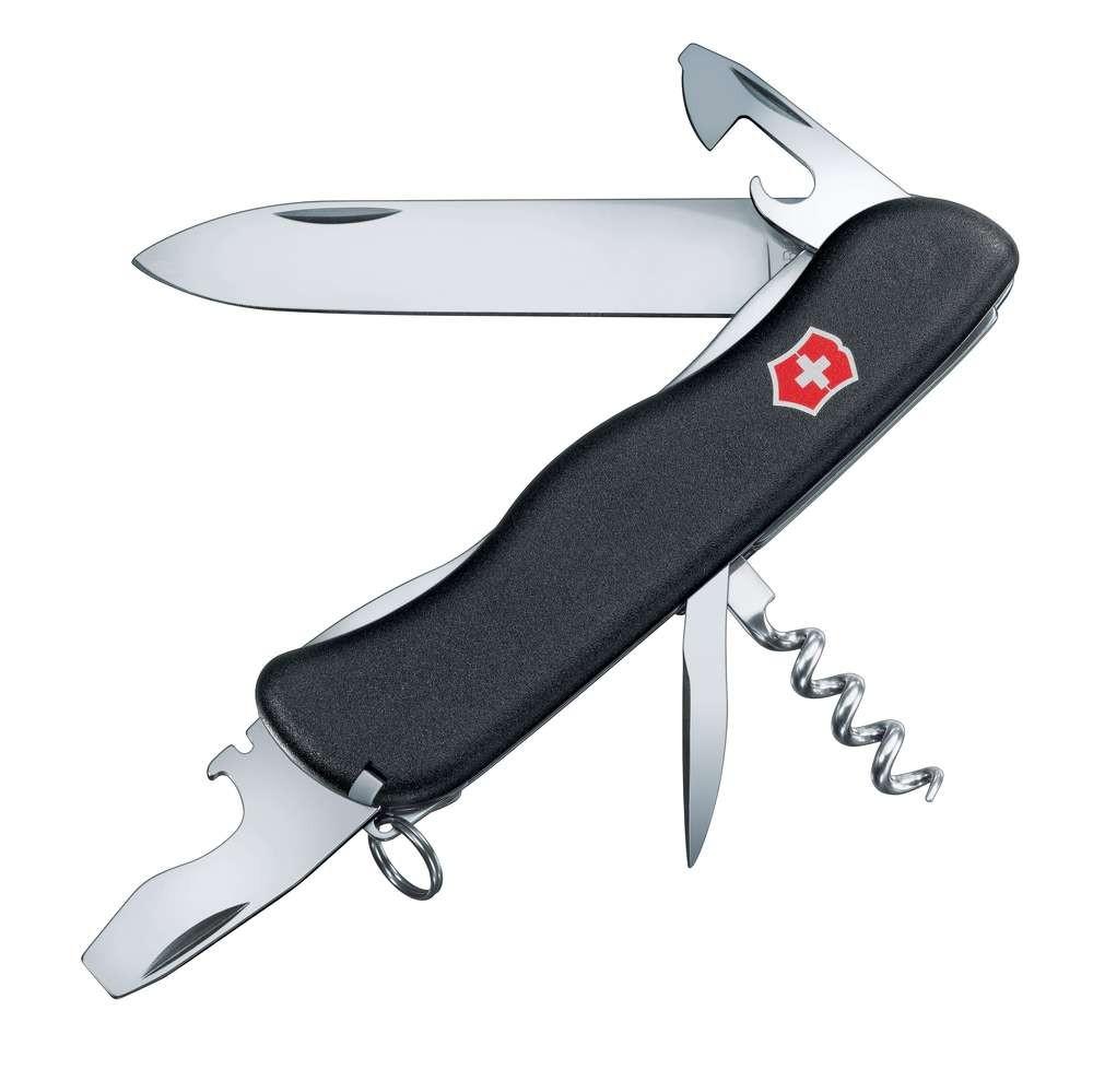 Солдатский нож с фиксатором лезвия NOMAD, черный