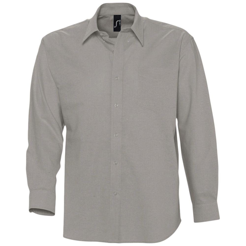 Рубашка мужская с длинным рукавом BOSTON, серая