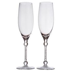 Два бокала для шампанского Miracle, с кристаллами
