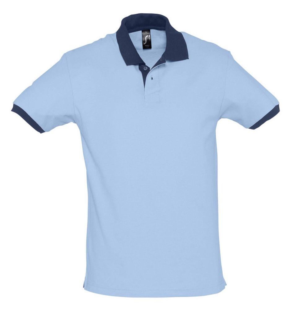 Рубашка поло Prince 190, голубая с темно-синим