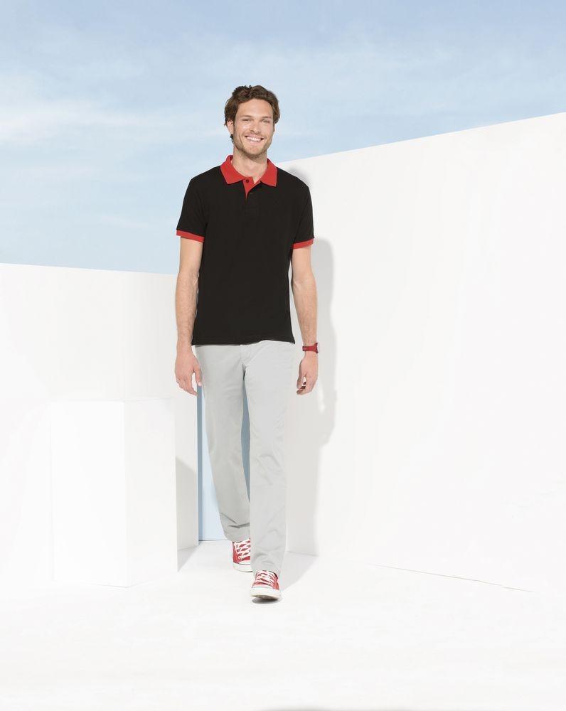 Рубашка поло Prince 190, черная с красным