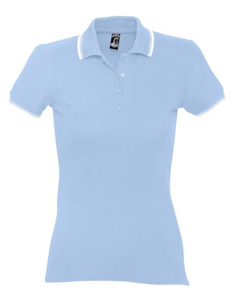 Рубашка поло женская Practice women 270, голубая с белым