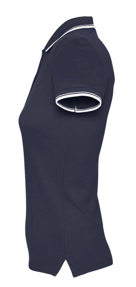 Рубашка поло женская Practice women 270, темно-синяя с белым