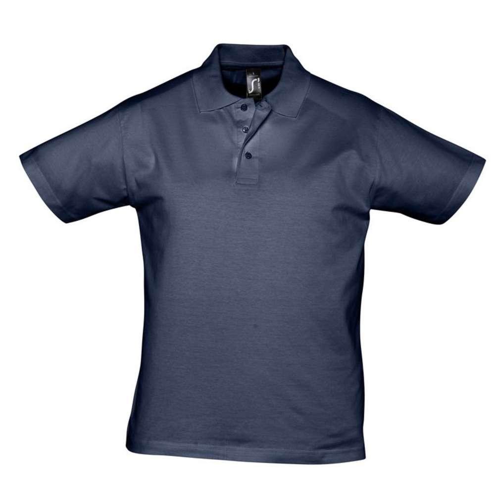 Рубашка поло мужская Prescott men 170, кобальт (темно-синяя)