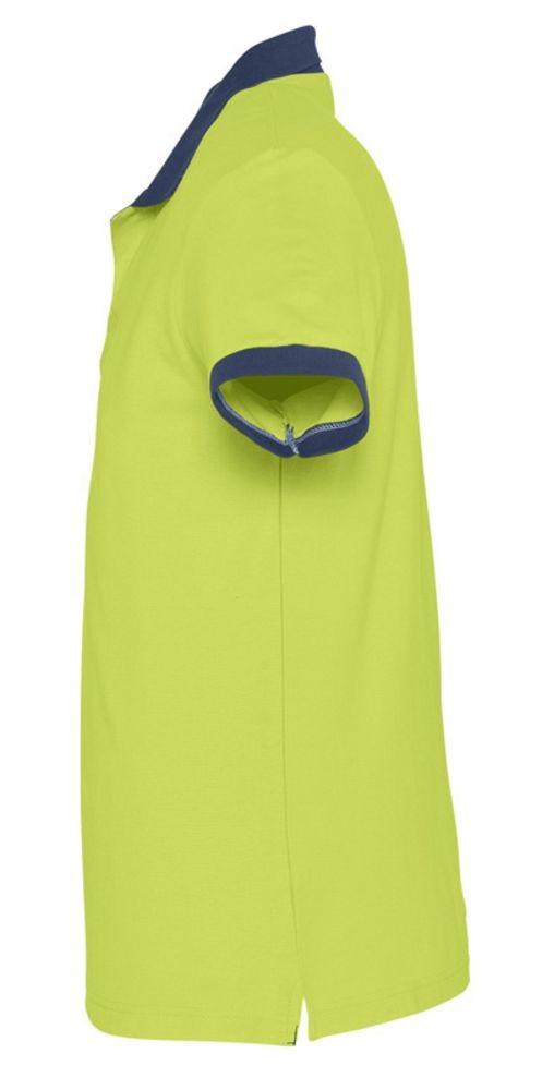 Рубашка поло Prince 190, зеленое яблоко с темно-синим