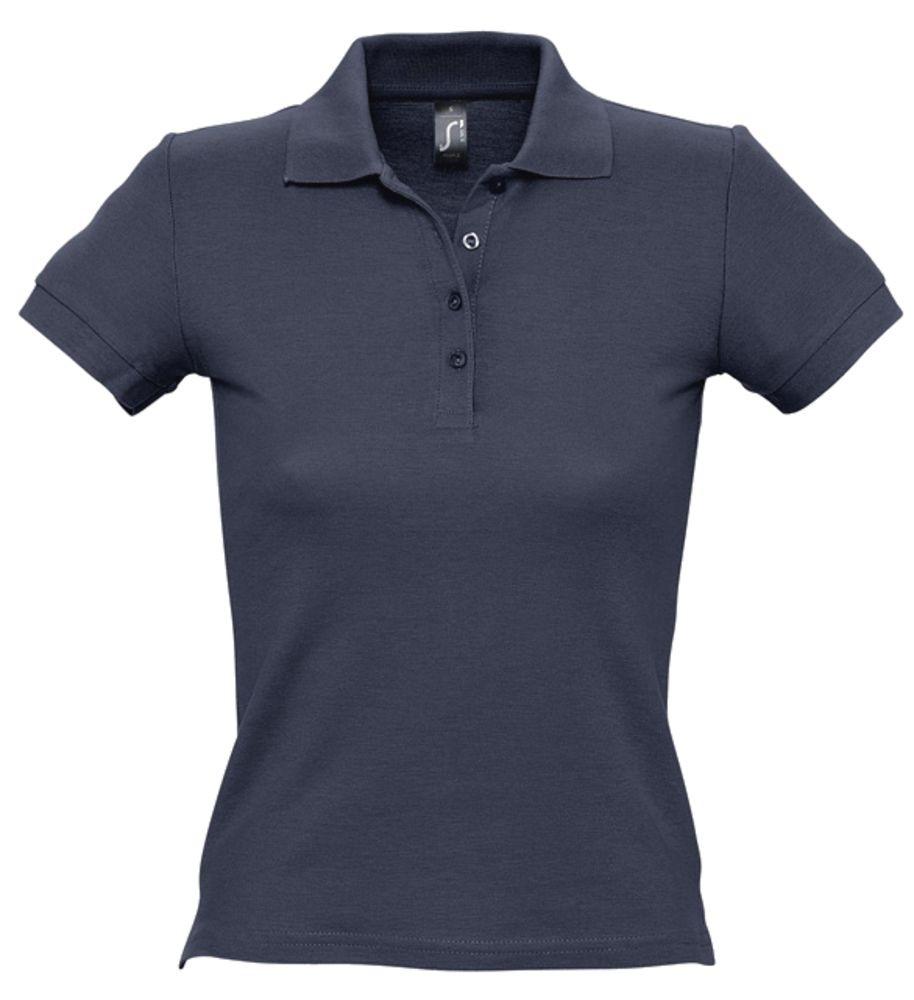 Рубашка поло женская PEOPLE 210, темно-синяя (navy)