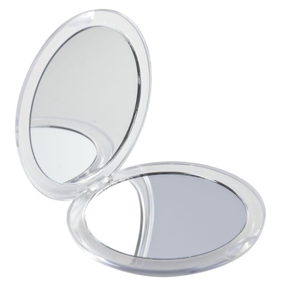 Зеркало Smile круглое, белое