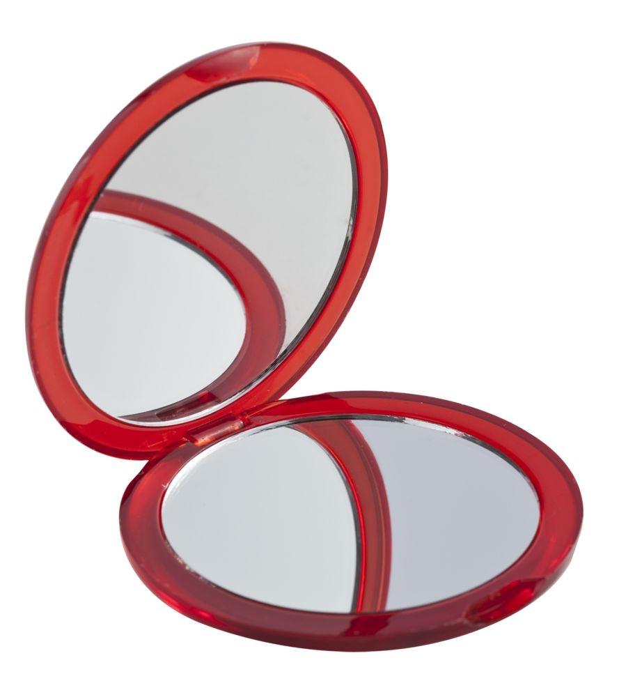 Зеркало Smile круглое, красное