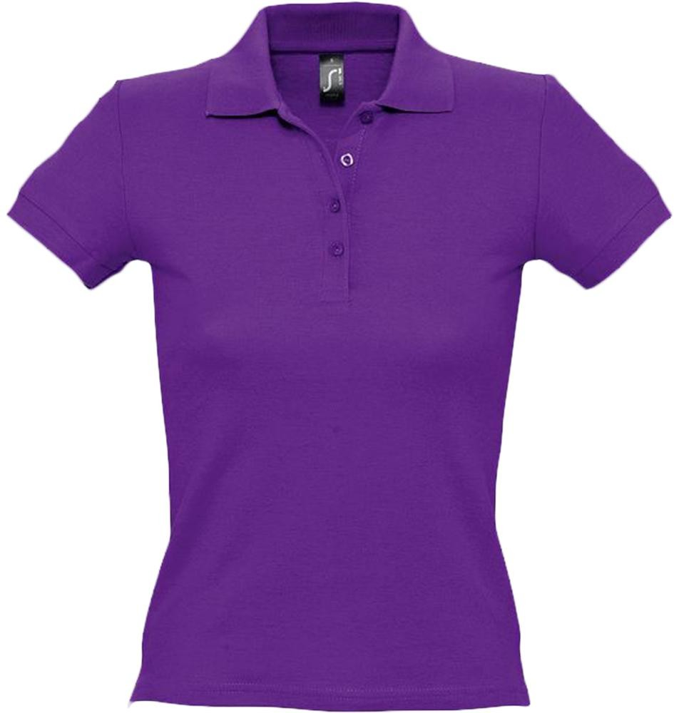 Рубашка поло женская PEOPLE 210, темно-фиолетовая