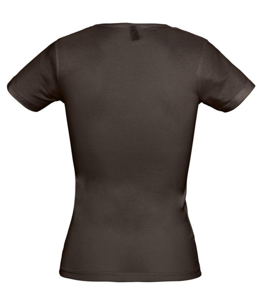 Футболка стретч женская MIAMI 170 темно-коричневая (шоколад)