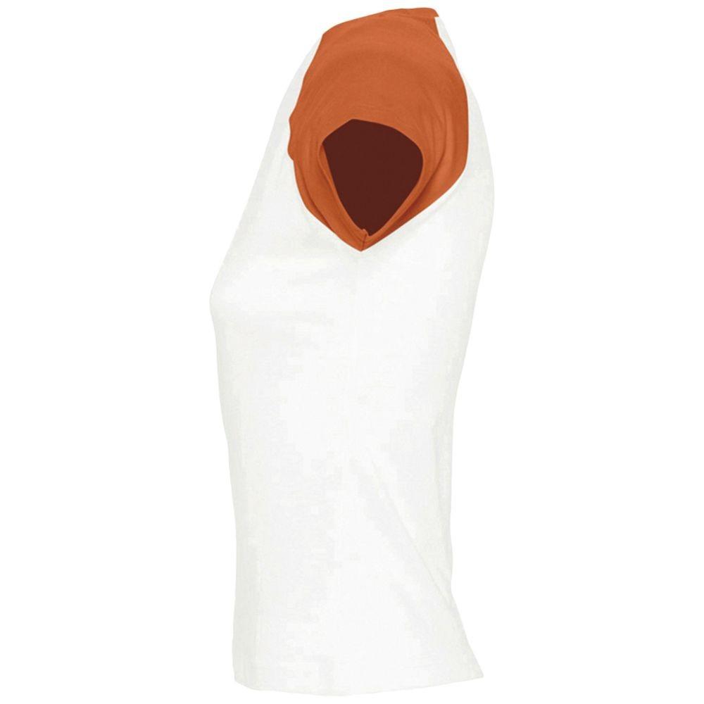 Футболка женская MILKY 150, белая с оранжевым