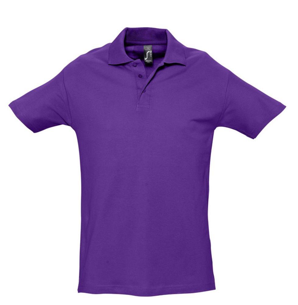 Рубашка поло мужская SPRING 210, темно-фиолетовая